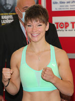 Boxing European featherweight champion Nina Meinke SES-Boxing the SES Boxing-Gala 18.7.20 Magdeburg