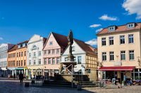 Güstrow, Germany - 07.06.2019 - horse market in the old town