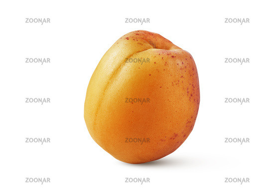Fresh ripe natural organic apricot isolated on a white background.