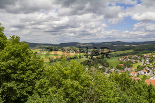 sunny Bavarian Forest scenery
