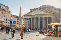 Pantheon at the Piazza della Rotonda in Rome, Italy