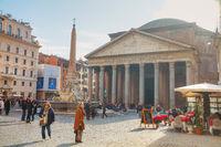 Pantheon at the Piazza della Rotonda in Rome, Italy