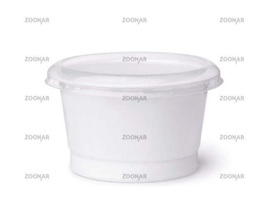 Blank disposable plastic dairy cup