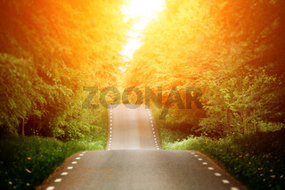 Emty country-road