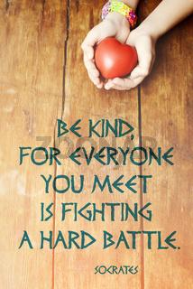be kind heart vert