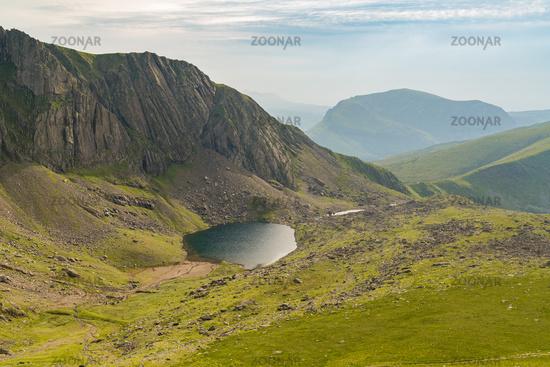 Llanberis Path, between Mount Snowdon and Llanberis, Gwynedd, Wales, UK