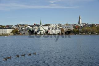 Tjörnin, Reykjavik, Island