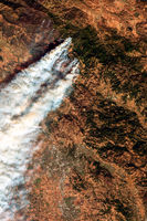 Wildfires in California in October 2019 as seen from space.