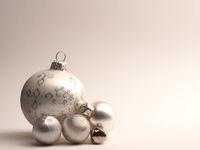 Four vintage Christmas balls