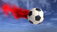 Football Red Smoke Sky
