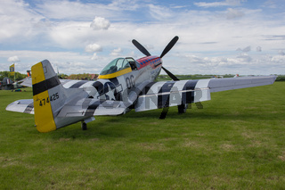 Oostwold, Netherlands May 25, 2015: P-51D Mustang