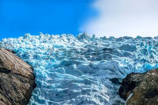 Briksdal glacier, Norway nature landmark