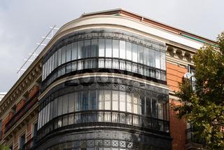 Traditional glazed balcony of a luxurious house