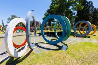 Argentina Cordoba colored circles of Bicentennial trail