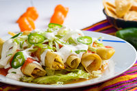 Mexican food, flautas