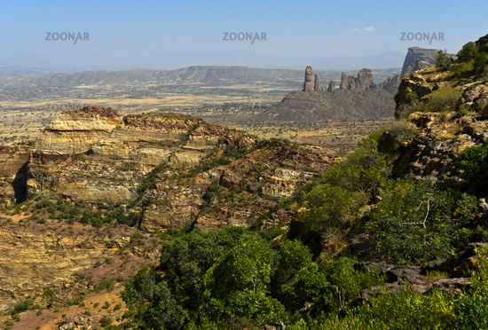 Northern part of the East African Rift Valley in the Gheralta Mountain massif, Tigray, Ethiopia
