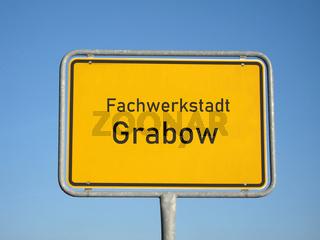 Ortsschild Grabow