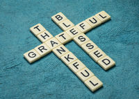 thankful, grateful, blessed  spiritual words