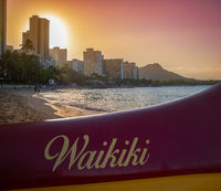 Hawaii Beach Outrigger Canoe