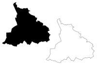 Malpils Municipality (Republic of Latvia, Administrative divisions of Latvia, Municipalities and their territorial units) map vector illustration, scribble sketch Malpils map