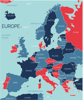 Europe ontinent vector map