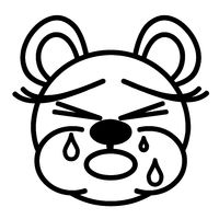 cute bear - crying