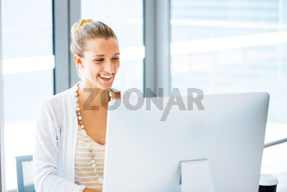 Elegant office worker