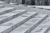 Gray steps of stone in the city