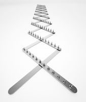 Road spike isolated on white background. 3D illustration