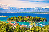 Zadar archipelago. Island of Ugljan waterfront and Galovac view