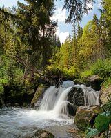 Small waterfall in Rila mountain, Bulgaria