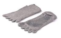 Non-slip yoga toe socks