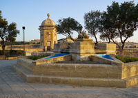 Gardjola Gardens in the early morning, Senglea, Malta