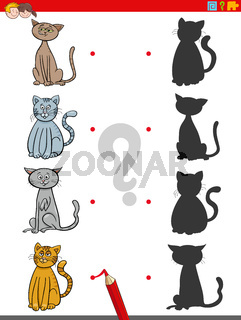 shadow game with cats characters