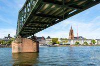 Bridge accross the Main River in Frankfurt