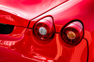 Close-up of the Rear of a Sports Car