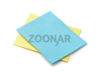 Blue and yellow viscose absorbing napkins