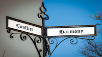 Street Sign Harmony versus Conflict