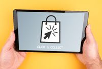 using click and collect services on tablet computer