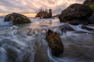 Sunset at the Beach. Northern California, USA.
