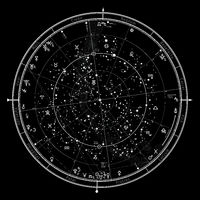 Astrological Celestial Map of The Northern Hemisphere. The General Global Universal Horoscope '2020.