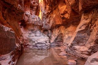 Khazali canyon at Wadi Rum desert in Jordan