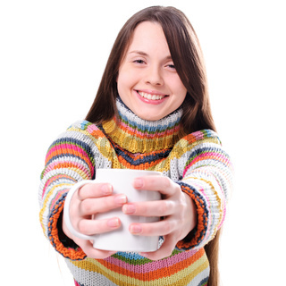 Girl with cup of tea