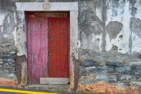 Old building wall door  Madeira
