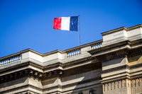 French flag on the Pantheon, Paris