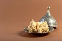 Traditional Oriental dessert - tahini halva.
