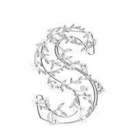 Letter S floral sketch