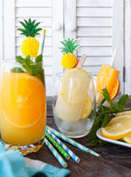 Fruity cocktail with orange