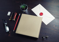 Blank retro stationery