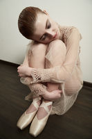 tired ballerina resting